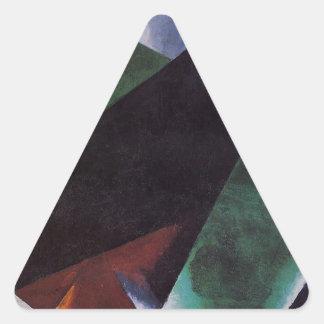 Painterly-Architectonic by Lyubov Popova Triangle Sticker