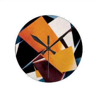 Painterly Architectonic by Lyubov Popova Wall Clock