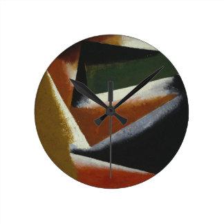 Painterly Architectonic by Lyubov Popova Wall Clocks