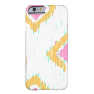 Painterly Ikat in Pink & Orange iPhone Case by KCS