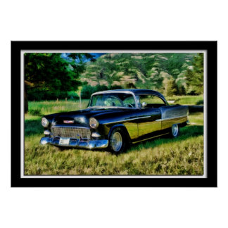 Painterly Photo of 55 Chevy Poster