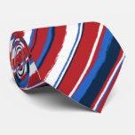 Painterly Striped Neckties