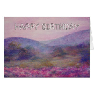 painterly summer nocturne birthday greeting card