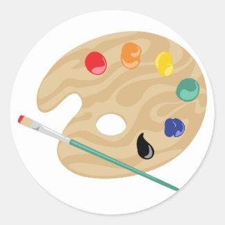 Painters Palette Classic Round Sticker