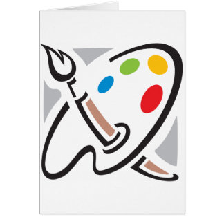 Painters Palette Note Cards