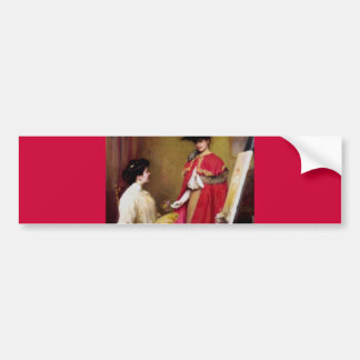 Painters Studio Two Women painting Bumper Stickers