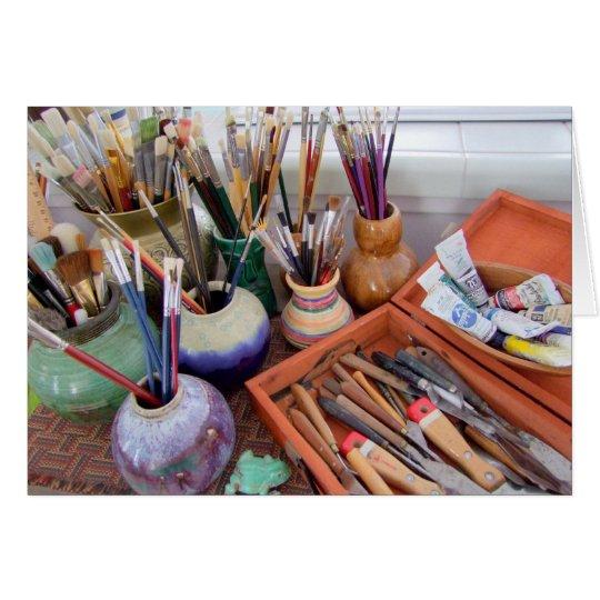 Painter's Supplies Card