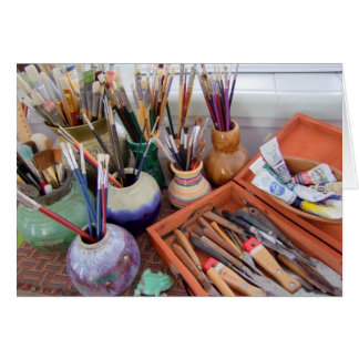 Painter's Supplies Greeting Card