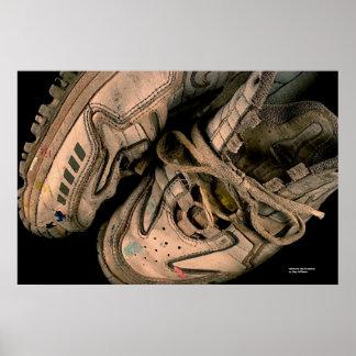 Painter's Tennis Shoes Print