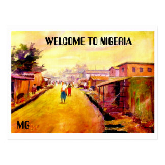 PAINTING 5 copy, WELCOME TO NIGERIA , MG Postcard