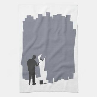 Painting a Wall Tea Towel
