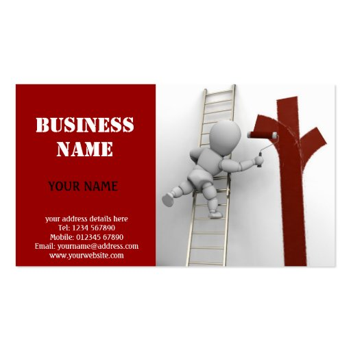 Create Your Own Painter Business Cards Page3
