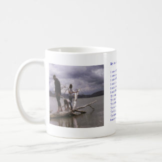 "Painting and poem by Dale Candee ""My little girl"" Basic White Mug"