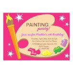 Painting & Art Birthday Party Invitations