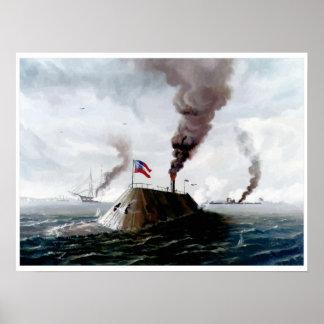 Painting Battle of Hampton Roads, standard Posters