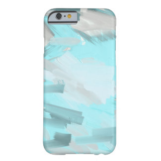 PAINTING | blue and grey brushstrokes Barely There iPhone 6 Case
