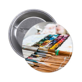 Painting Brushes Pin