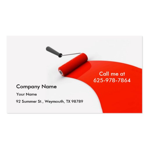 Create your own painter business cards painting business card colourmoves