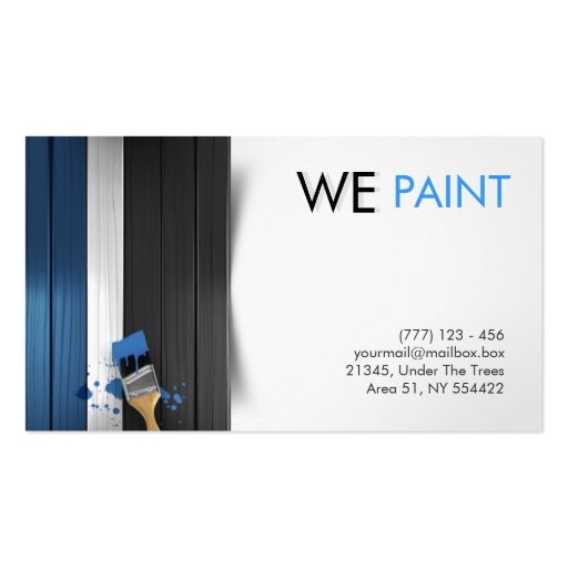 create your own painter business cards page3. Black Bedroom Furniture Sets. Home Design Ideas