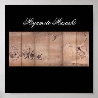 Painting by Miyamoto Musashi c 1600 s Posters