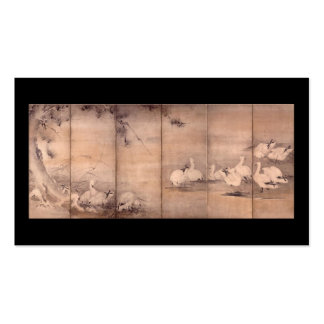 Painting by Miyamoto Musashi, c. 1600s Business Card Templates