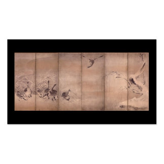 Painting by Miyamoto Musashi, c. 1600s Business Card Template