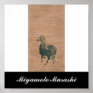 Painting by Miyamoto Musashi, c. 1600's Poster