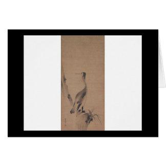 Painting by Miyamoto Musashi, circa 1600's Card