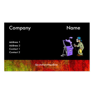 Painting Cars With Border Double-Sided Standard Business Cards (Pack Of 100)