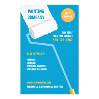 Painting Company / Contractor flyer
