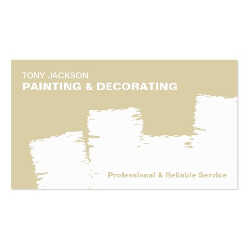 Create Your Own Painter Business Cards Page2