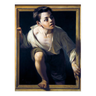 """Painting """"Escaping of critical"""" the Art Postcard"""