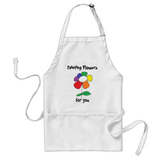 """Painting Flowers"" by All Time Low Standard Apron"