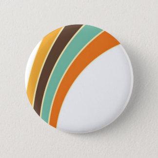 Painting in retro colors 6 cm round badge