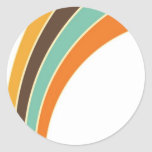 Painting in retro colours round sticker