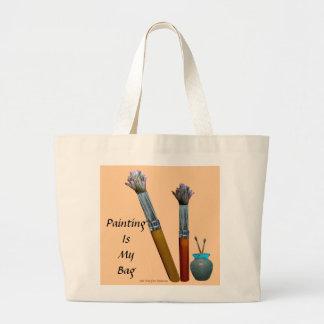 Painting Is My Bag - artist's tote bag