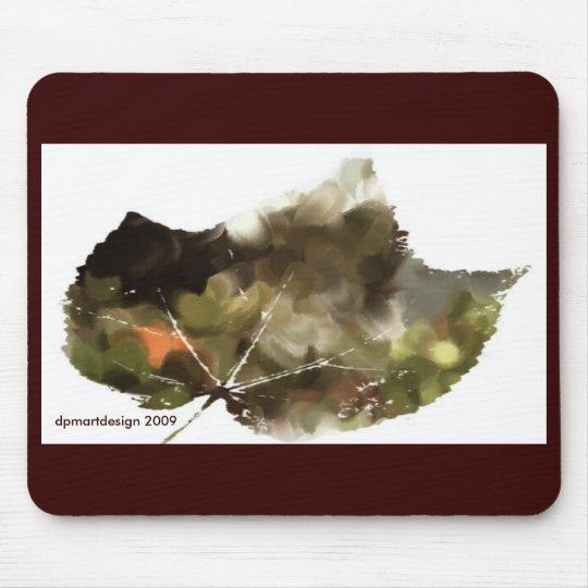 _Painting-leaf-dark, dpmartdesign 2009 Mouse Mat