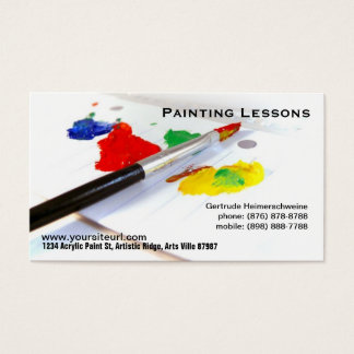 Painting Lessons - Paintbrush on paper palette