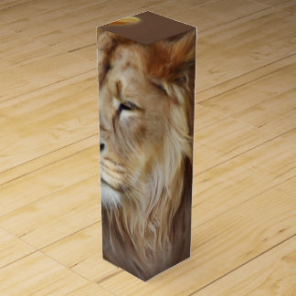 Painting Lion Wine Boxes