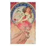 Painting Lithograph by Alphonse Mucha