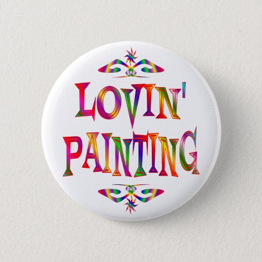 Painting Lover 6 Cm Round Badge