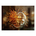 Painting : Lunar Loves Solar Poster