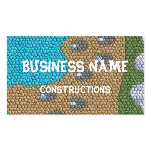Painting mosaic business card