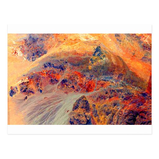 Painting: Mountains & Waterfall: Post Cards