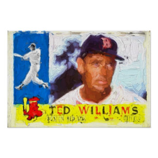Painting of 1960 Ted Williams Baseball Card Poster