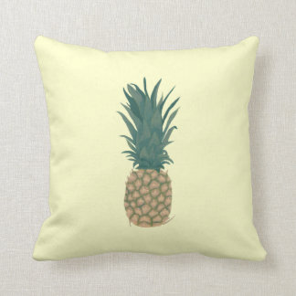Painting of a fresh Pineapple, Tropical Pillows