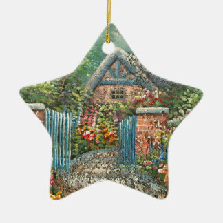 Painting Of A Gated Country Home Christmas Ornament