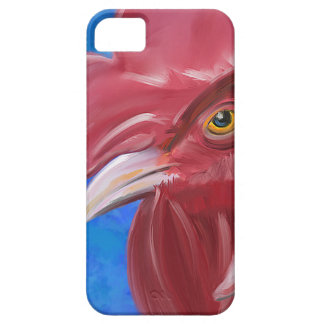 Painting of a Red Rooster in Vibrant Colors Cover For iPhone 5/5S