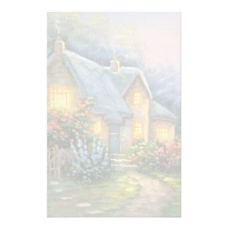 Painting Of A Rustic Fantasy Cottage Custom Stationery