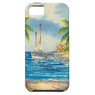 Painting Of A Sailboat In Hawaii iPhone 5 Covers